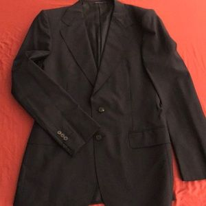 Yves Saint Laurent slim fit jacket, midnight blue